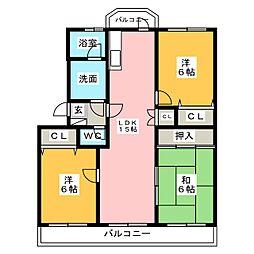 イターナルフェア[1階]の間取り