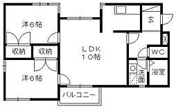 REGART佐鳴台[3階]の間取り