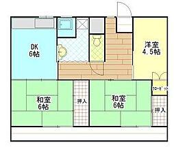 ビレッジハウス松崎 3号棟[202号室]の間取り