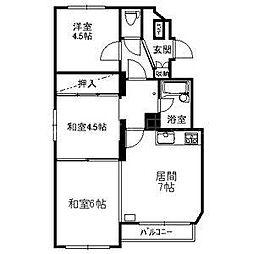 第12松井ビル[1階]の間取り