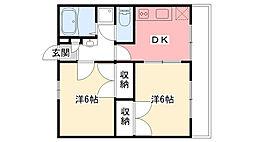 兵庫県西宮市堤町の賃貸マンションの間取り
