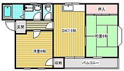 メゾン・ド・シモーヌ[402号室]の間取り