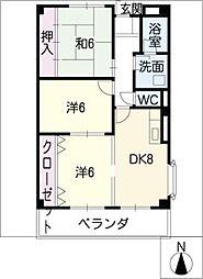 リンピア堀田[2階]の間取り