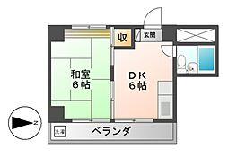愛知県名古屋市中区大須3丁目の賃貸マンションの間取り