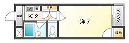 シャンティ上島[3階]の間取り