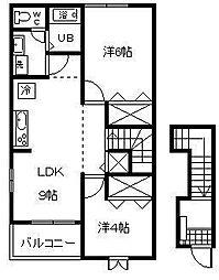 グリーンハイツⅡ[2階]の間取り