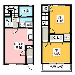 [テラスハウス] 静岡県浜松市南区新橋町 の賃貸【/】の間取り