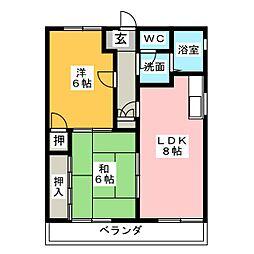 坂野ハイツ[1階]の間取り