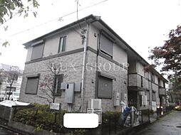 東京都調布市深大寺南町3丁目の賃貸アパートの外観