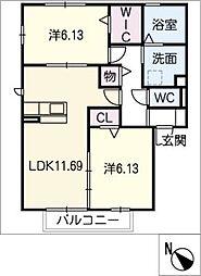 仮)D−room犬山市上坂[2階]の間取り