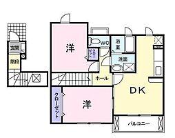 モデラート[2階]の間取り