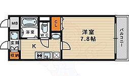ディベールメゾン 5階1Kの間取り