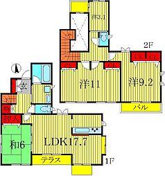 [一戸建] 千葉県柏市手賀の杜3丁目 の賃貸【/】の間取り