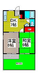 SAKURA B棟[102号室]の間取り