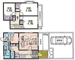 [テラスハウス] 神奈川県横浜市都筑区荏田南1丁目 の賃貸【/】の間取り