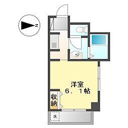 アーバンハウスケイズ(URBAN HOUSE Ks)[504号室]の間取り