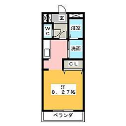 ランドハイツ[1階]の間取り