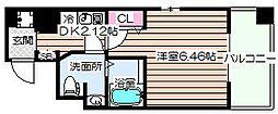 ニューシティアパートメンツ西天満[9階]の間取り