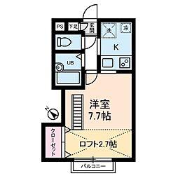 パークサイドテラス高井戸[2階]の間取り