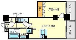 アクシオ梅田東[5階]の間取り