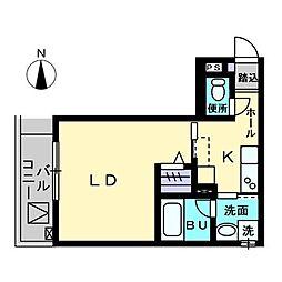 Maison de Quatre III 3階1Kの間取り