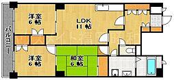 オリエントハイツ桜坂[3階]の間取り