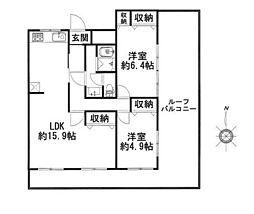 藤掛城山コーポ[403号室]の間取り