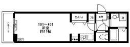 都営三田線 西巣鴨駅 徒歩2分の賃貸マンション 2階ワンルームの間取り