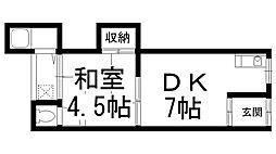 西川第3住宅[05号室]の間取り