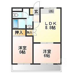 コーポSAWADA[1階]の間取り