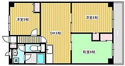 ココパームス千歳台[5階]の間取り