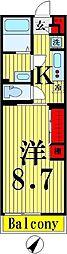 東京都足立区扇2丁目の賃貸マンションの間取り