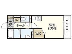 東雲MEビル 2階ワンルームの間取り