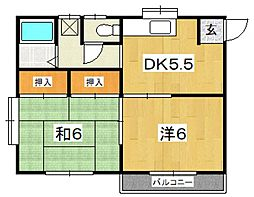 コーポ浅倉[201号室号室]の間取り