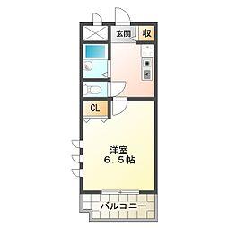 アーベントロート[2階]の間取り