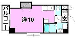 ドルーク三番町[201 号室号室]の間取り