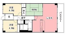 夙川レッチオ・レジデンツァ[304号室]の間取り