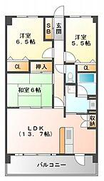 スカール江坂[102号室号室]の間取り