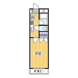シャルマン草加II[3階]の間取り