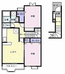 サンライトヴィラA[2階]の間取り