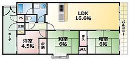 朝日プラザモンターニュ北神戸1番館[6階]の間取り