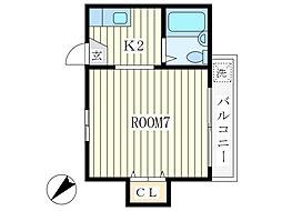 コーポTI[2階]の間取り