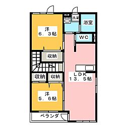 D.フィールド[2階]の間取り