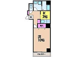 愛媛県松山市永木町2丁目の賃貸マンションの間取り
