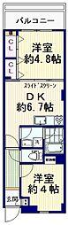 MENE21[2階]の間取り