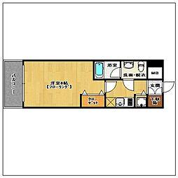 ピュアドーム箱崎アートリア[4階]の間取り