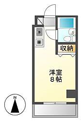 ラフィネ新栄[4階]の間取り