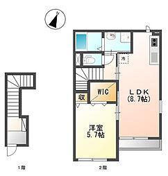 グランハート三木[2階]の間取り