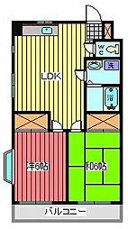 喜沢パールハイツ[2階]の間取り