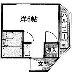 中井マンション[301号室号室]の間取り